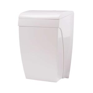 Abfallbehälter 8 Liter mit Knie-Bedienung Kunststoff weiß (PQKBS) (PlastiQline)
