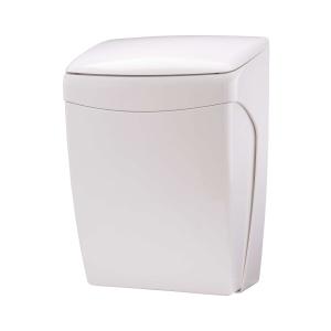 Abfallbehälter 20 Liter mit Knie-Bedienung Kunststoff weiß (PQKBL) (PlastiQline)