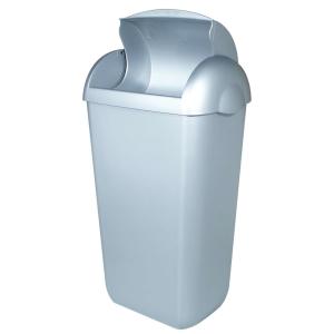 Hygiene-Abfallbehälter 23 Liter Kunststoff Edelstahl Optik (PQH23M) (PlastiQline)