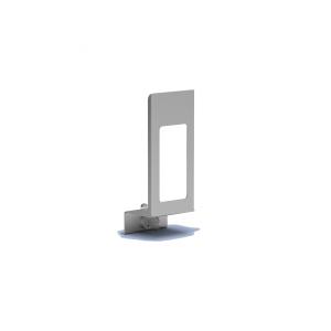Verschlußplatte Aluminium 500 ml mit Sichtfenster (MQLP05A) (MediQo-line)