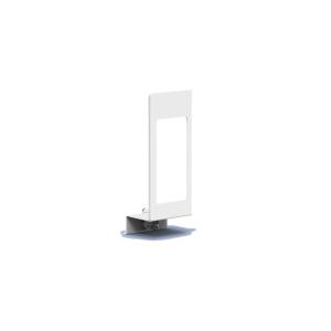 Verschlußplatte Weiß 1000 ml mit Sichtfenster (MQLP10P) (MediQo-line)