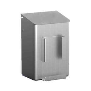 Hygiene-Abfallbehälter 6 Liter + Hygienebeutelhalter Aluminium (MQWB6HBHA) (MediQo-line)