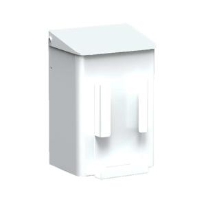 Hygiene-Abfallbehälter 6 Liter + Hygienebeutelhalter Weiß (MQWB6HBHP) (MediQo-line)
