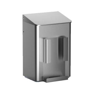 Hygiene-Abfallbehälter 6 Liter + Hygienebeutelhalter Edelstahl (MQWB6HBHE) (MediQo-line)