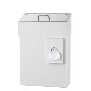 Hygiene-Abfallbehälter 10 Liter + Hygienebeutelhalter Weiß (MQHB10P) (MediQo-line)