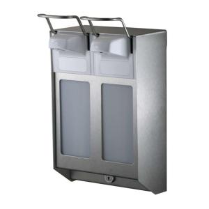 Desinfektion/Seifenspender DUO KH 500 ml Edelstahl (MQDV05E) (MediQo-line)