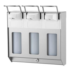 Desinfektion/Seifenspender TRIO KH 500 ml Edelstahl (MQTV05E) (MediQo-line)