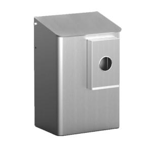 Hygiene-Abfallbehälter 6 Liter + Hygienebeutelhalter Aluminium (MQWB6HBKA) (MediQo-line)