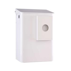 Hygiene-Abfallbehälter 6 Liter + Hygienebeutelhalter Weiß (MQWB6HBKP) (MediQo-line)