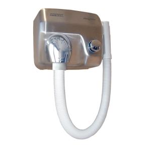 Haartrockner Edelstahl Optik mit Schlauch (SC0088HTCS) (Mediclinics)