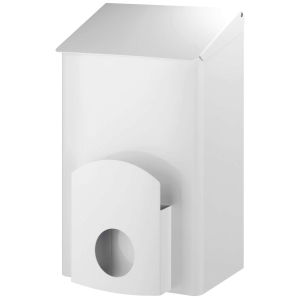 Hygienebehälter + Hygienebeutelhalter 7 Liter Edelstahl Weiß (AC LBS 7 EP) (Dutch Bins)