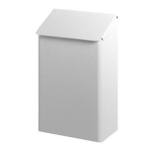 Abfallbehälter 7 liter Edelstahl Weiß (AC WB 7 EP) (Dutch Bins)