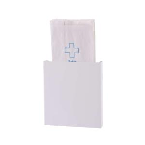 Hygienebeutelhalter geeignet für Papiertüten Edelstahl Weiß (AC HBDP EP) (Dutch Bins)