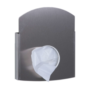Hygienebeutelhalter für Papier und Polybeutel  Edelstahl (AC HBDS E) (Dutch Bins)