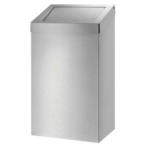Abfallbehälter 50 Liter geschlossen Edelstahl (AC BB 50 E) (Dutch Bins)