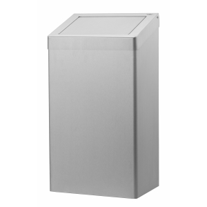 Abfallbehälter 50 Liter geschlossen Edelstahl AFP-C (AC SB 50 E) (Dutch Bins)