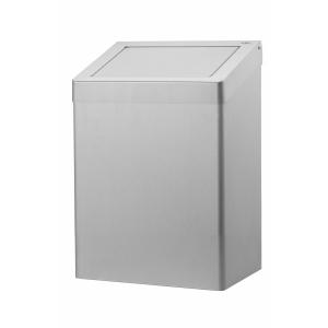Abfallbehälter 20 Liter geschlossen Edelstahl AFP-C (AC SB 20 E) (Dutch Bins)