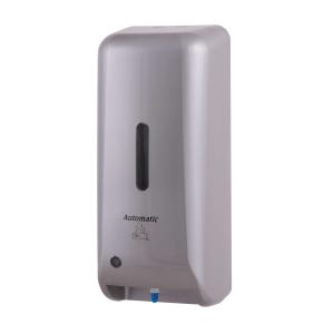 Schaumseifenspender automatisch 1000 ml Kunststoff Edelstahl Optik (PQAutFoamM) (MediQo-line)