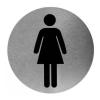 Piktogramm rund Frau Edelstahl (PS0002CS) (Mediclinics)