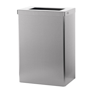 Abfallbehälter 50 Liter offen Edelstahl AFP-C (EBU 50 E) (SanTRAL)
