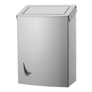 Abfallbehälter 20 Liter geschlossen Edelstahl AFP-C (WIN WBP20 SAL) (Wings, Dutch Bins)