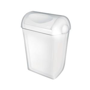 Abfallbehälter 23 Liter Kunststoff weiß + Swing Deckel (PQSA23) (PlastiQline, Dutch Bins)