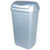Abfallbehälter 43 Liter Kunststoff Edelstahl Optik +...