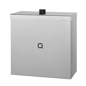 Abfallbehälter Edelstahl geschlossen 9 Liter (QWBC9 SSL) (Qbic-line, Dutch Bins)