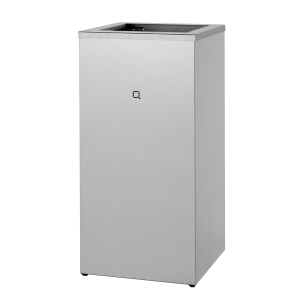 Abfallbehälter Edelstahl offen 85 Liter (QWBO85 SSL) (Qbic-line, Dutch Bins)