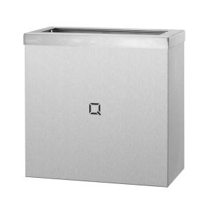 Abfallbehälter Edelstahl offen 9 Liter (QWBO9 SSL) (Qbic-line, Dutch Bins)