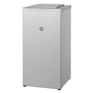 Abfallbehälter Edelstahl geschlossen 30 Liter (QWBC30 SSL) (Qbic-line, Dutch Bins)