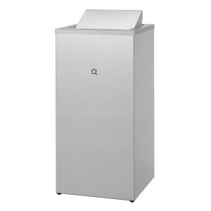 Abfallbehälter Edelstahl geschlossen 85 Liter (QWBC85 SSL) (Qbic-line, Dutch Bins)