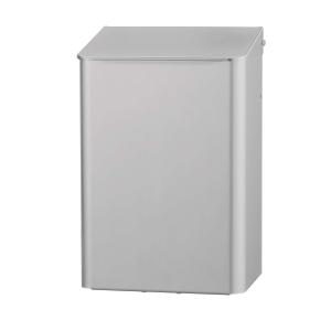 Abfallbehälter 6 Liter Aluminium geschlossen (MQWB6A) (MediQo-line, Dutch Bins)