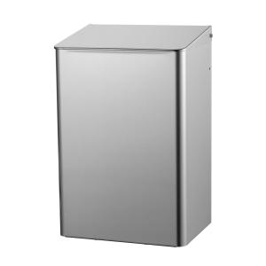 Abfallbehälter 15 Liter Edelstahl geschlossen (MQWB15E) (MediQo-line, Dutch Bins)