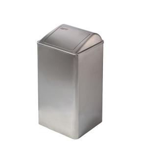 Abfallbehälter geschlossen Edelstahl 65 Liter (PP0065CS) (Mediclinics, Dutch Bins)