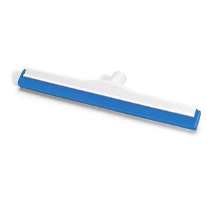HACCP-Wasserschieber glasfaserverstärkt 45 cm Hygiene-Gummi blau