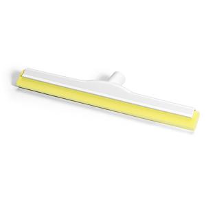 HACCP-Wasserschieber glasfaserverstärkt 45 cm Hygiene-Gummi gelb