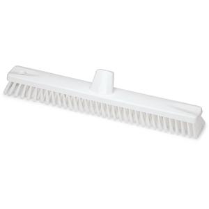 HACCP Schrubber-Wischer Kunststoff MS 0,5 hart X-Borste 45 cm weiß / transparent