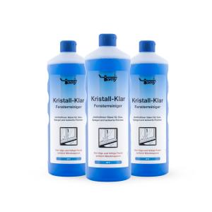 Kristall-Klar Glasreiniger Karton mit 12 x 1000-ml-Flasche