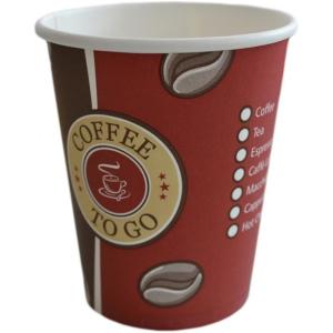 Kaffeebecher To Go 0,2-Liter 8-OZ 80mm Karton á 1000 Stück Standard To-Go Druck