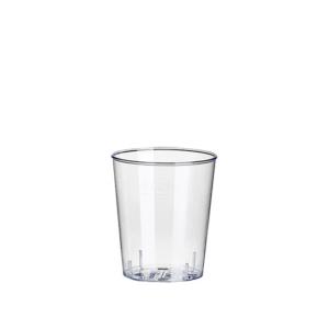 Trinkglas 0,02 L (2cl)  glasklar PET für Schnaps