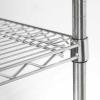 Lagerregal aus verchromten Stahl, Abmessung 1220x610x1800...