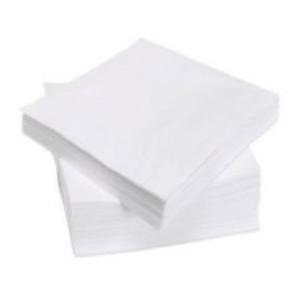 Serviette, geprägt, weiß, 33cm1lg.1/4 Falz VE=4500 Stück