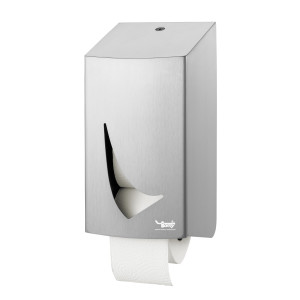 Tomy-Edelstahl-Toilettenpapierspender DUO mit Antifingerprintbeschichtung
