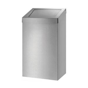 Abfallbehälter 50-l-Edelstahl s