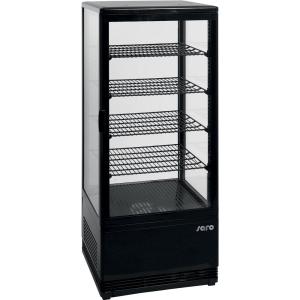 SARO Umluftkühlvitrine Modell SC 100 schwarz