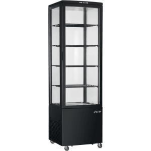 SARO Umluftkühlvitrine Modell SVEN schwarz