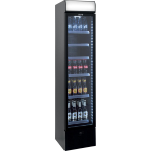 SARO Extra schmaler Kühlschrank mit Umluftventilator Modell DK 134