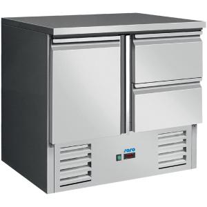 SARO Gekühlter Arbeitstisch Modell VIVIA S 901 S/S TOP 2 x 1/2