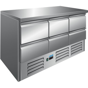 SARO Gekühlter Arbeitstisch Modell VIVIA S 903 S/S TOP 6 x 1/2